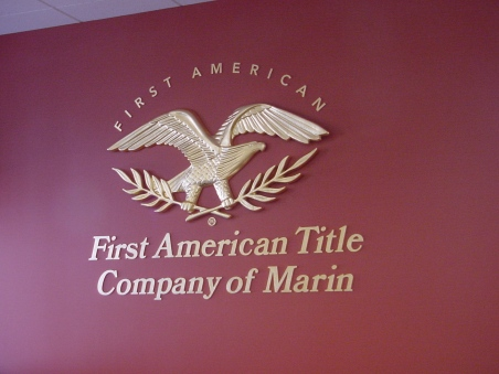 First American Interior Lobby Sign