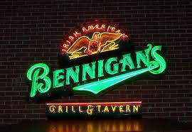 Benningans Exposed Neon Channel Letter Sign