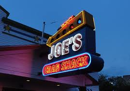 Joes Crab Shack Exposed Neon Channel Letter Sign
