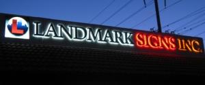 Landmark Signs Halo Letters
