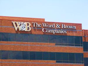 Word and Brown Channel Letter Sign