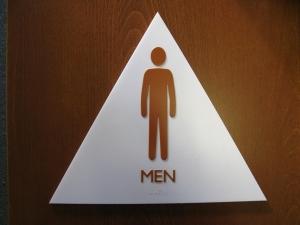 ADA Mens Restroom Door Sign