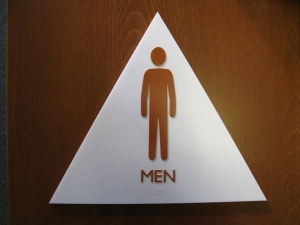 ADA Mens Restroom Door Sign