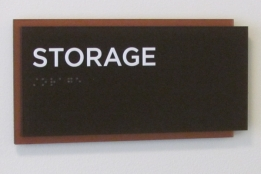 Custom ADA Storage Sign The Commons