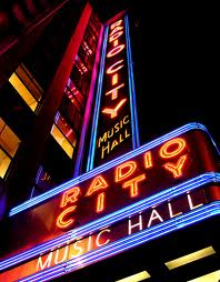 Radio City Music Hall Sign Vertical