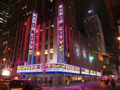 Radio City Music Hall Sign