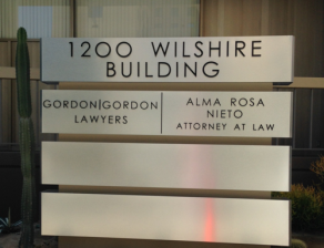 1200 Wilshire Monument Sign After