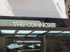 The Commons 3D Sign