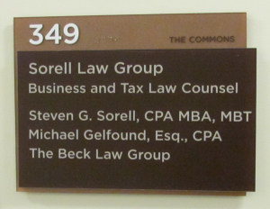 The Commons ADA Sign