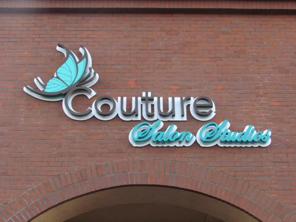 Couture Salon Studios Channel Letter