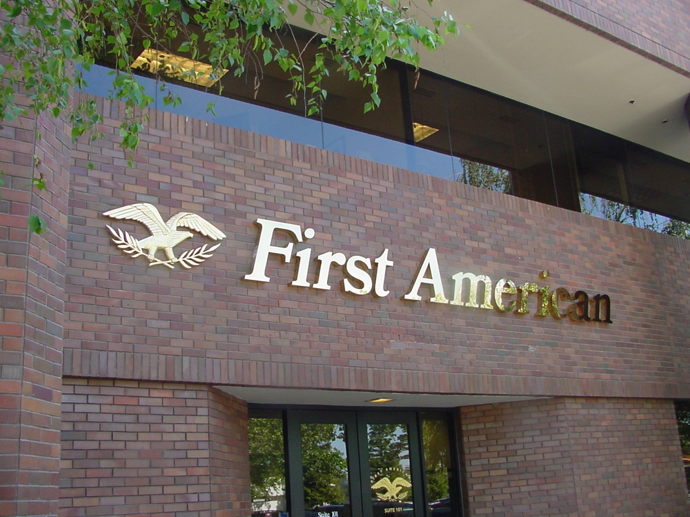First American 3D Sign