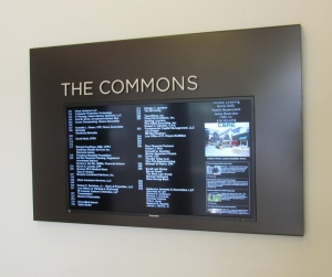 The Commons Digital Sign Display