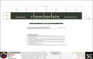 Chamberlain Parking Entrance