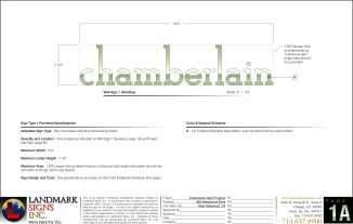 Chamberlain Sign Letters Design
