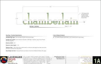 Chamberlain Sign Letters Design