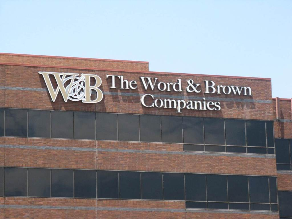 Word & Brown High Rise Channel Letters