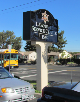 lawndale pole sign