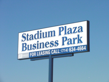 stadium pylon sign