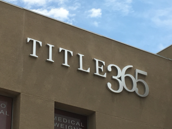 Title 365 Wall Sign