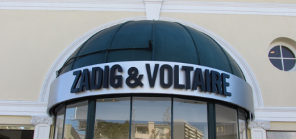 Zadig-Voltaire 3D Sign by Landmark Signs