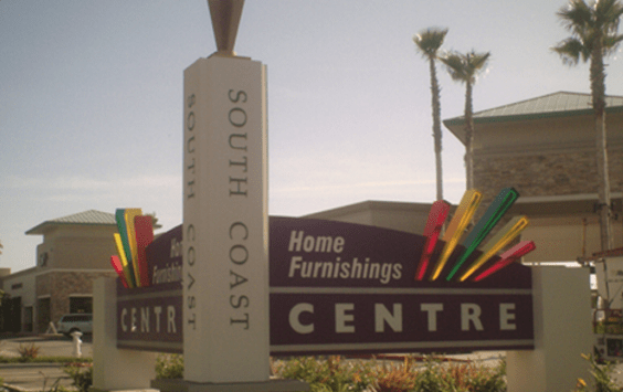 South Coast Neon Monument Sign by Landmark Signs