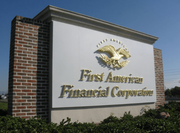 First American Monument Sign by Landmark Signs Inc.