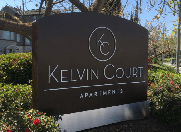 Kelvin Court Apartments Monument Signs by Landmark Signs Inc.