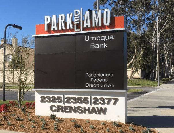 Park Del Amo Monument Sign by Landmark Signs Inc.