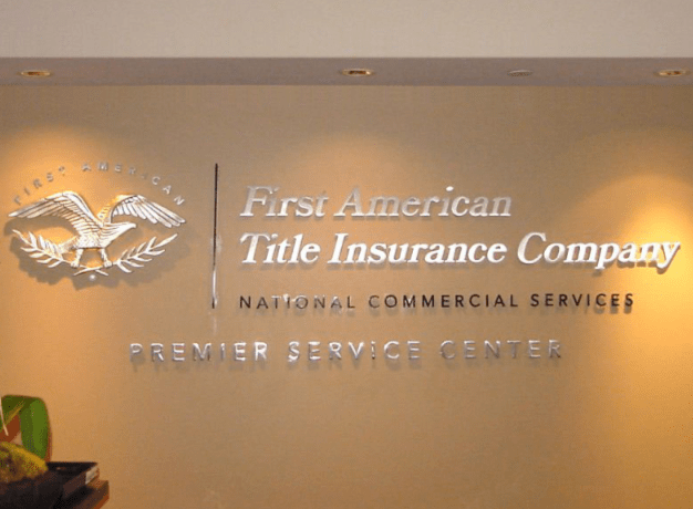 first american silver leaf lobby sign