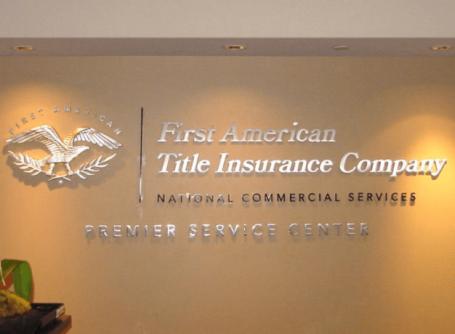first american silver leaf lobby sign