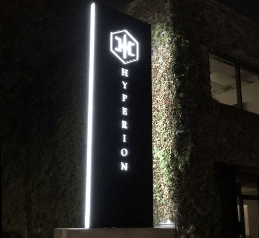 Hyperion Pole Sign