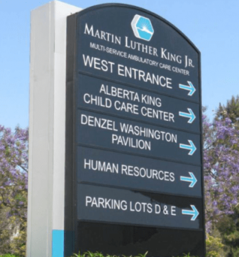 Martin Luther King Jr Pole Sign
