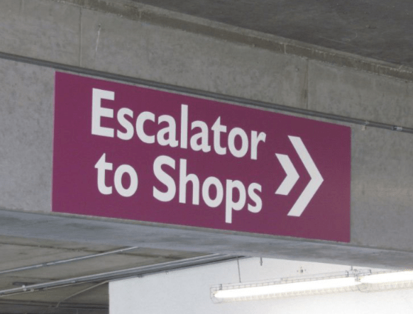 Parking Exterior Directional Sign